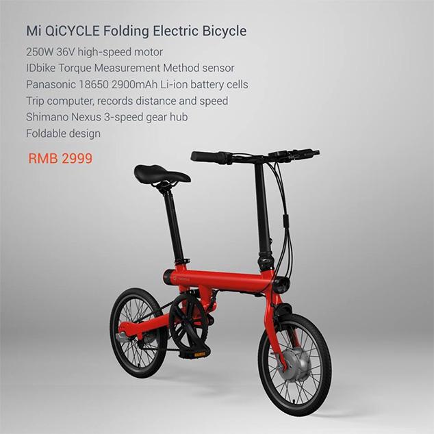 Xiaomi Has Launched Mi Qicycle Electric Folding Bike
