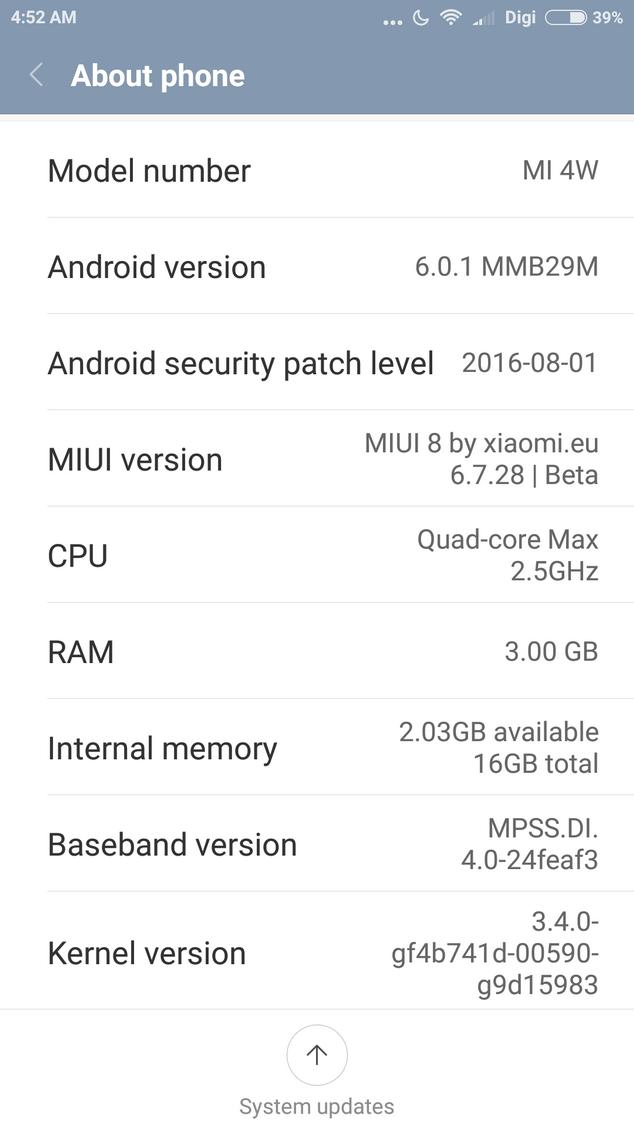 Xiaomi MIUI8