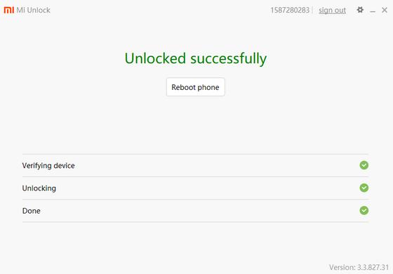 Miflash Unlock